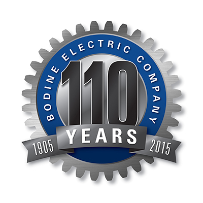 Bodine Electric 110 Years logo
