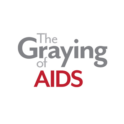 Graying of AIDS logo