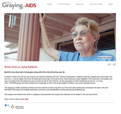 Graying of AIDS website