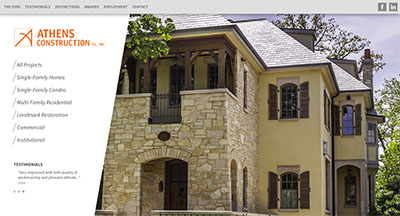 Athens Construction website